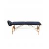 Pat masaj albastru cu 2 sectiuni structura din lemn