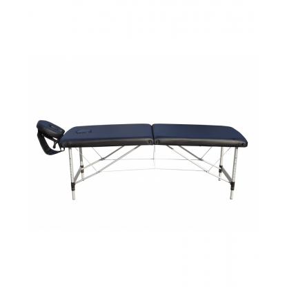 Pat masaj albastru cu 2 sectiuni cu structura din aluminiu