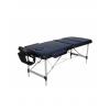 Pat masaj albastru cu 3 sectiuni cu structura din aluminiu