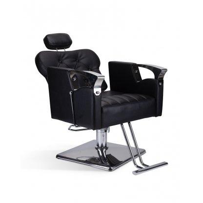 Scaun coafor-frizerie Glamour negru