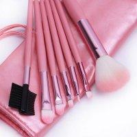 Pensule machiaj pink - set 7 bucati