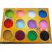 Pudra acrilica colorata set 12 x 3,5g