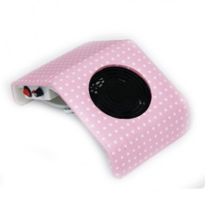 Aspirator praf unghii roz cu buline, model mic
