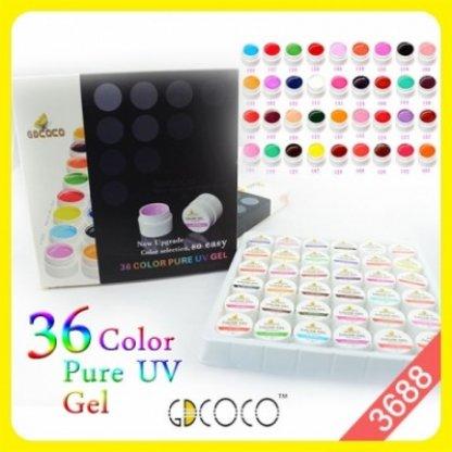 Geluri UV color GDCoco set 36 bucati 3688