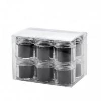 Set 12 bucati catifea unghii neagra