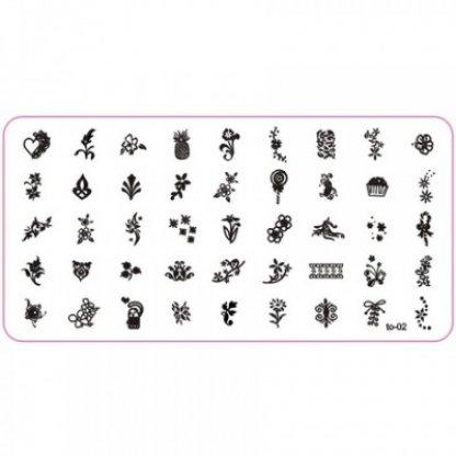 Matrita unghii pentru stampile 6x12cm