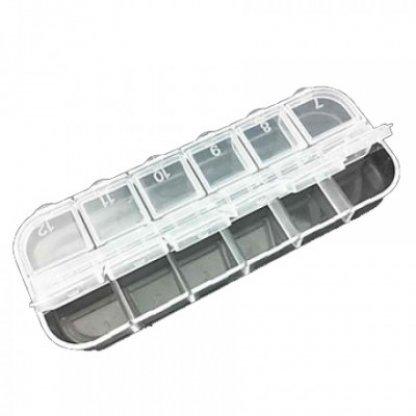 Cutie strasuri cu 12 compartimente pentru decor