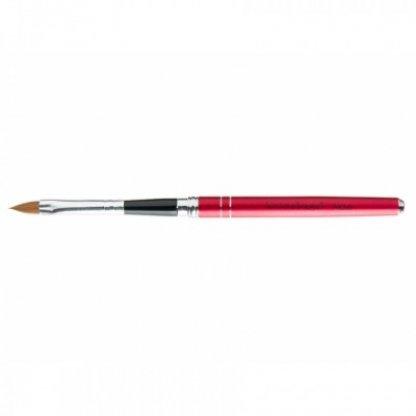 Pensula acryl din par kolinsky rosu