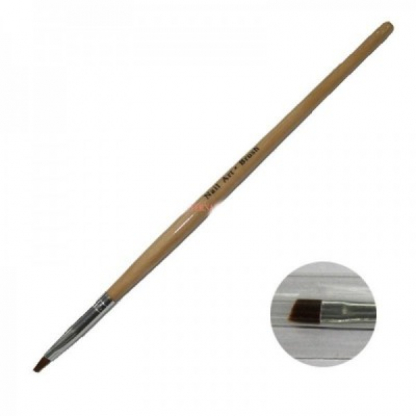 Pensula gel unghii nr 4 cu varf inclinat