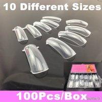 Tipsuri dual form 100 bucati, transparente