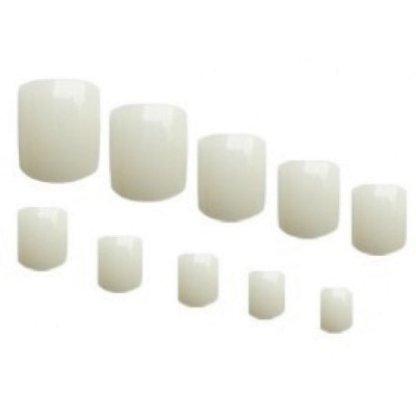 Tipsuri unghii natur pentru pedichiura - 100 buc