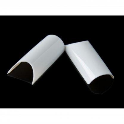 Tipsuri unghii pipe albe - 100 buc