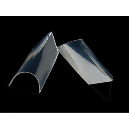 Tipsuri unghii edge transparente - 100 buc