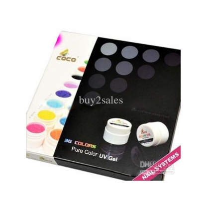 Gel Uv color COCO - set 36 buc