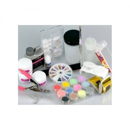 Kit profesional nail art cu acril