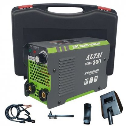 Aparat de sudura tip invertor ALTAI MMA 300 + Cutie transport, Cablu 3m