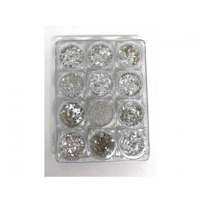 Paiete cristale cu sclipici set 12
