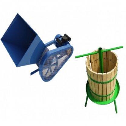 Set zdrobitor de fructe electric- 500kg/h + teasc struguri 32L