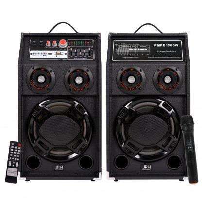 Set boxe active Bluetooth 500W EQ5 MICROPHONE WIRELESS