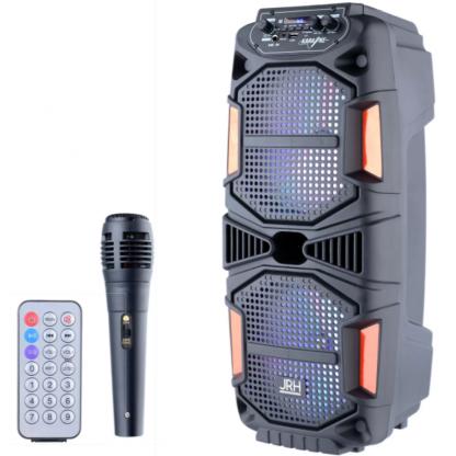 Boxa activa jrh A2802 3000W bluetooth cu microfone si telecomanda
