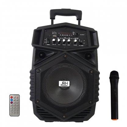 Boxa tip troler JRH A84, 300 W, 1800 mAh, USB, microfon wireless, telecomanda
