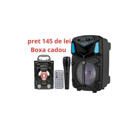 Oferta boxa portabila jrh H8 300W cu boxa portabila cadou