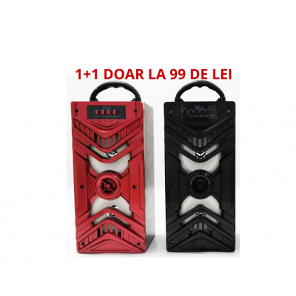 Oferta 1+1, 2 boxe portabile 2x100w Bluetooth radio fm, aux, sd card usb