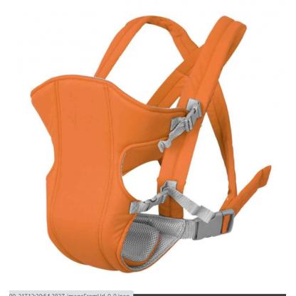 Marsupiu pentru bebelusi si copii multifunctional, portocaliu, pana la 15 kg