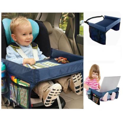Masuta copii, de calatorie pentru masina sau carut, albastru