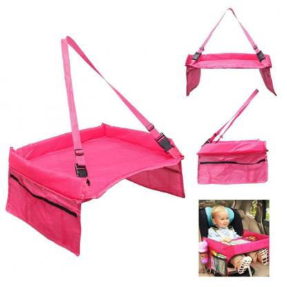 Masuta copii, de calatorie pentru masina sau carut, roz