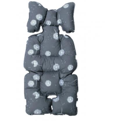 Protectie textila pentru carucior/scaun auto, gri, Dandelion SeviBebe