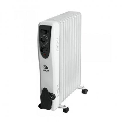 Radiator electric Albatros, 2500 W, 3 trepte putere, termostat reglabil, Alb/Negru