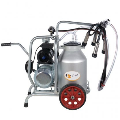 Mulgatoare - Aparat de muls vaci EMT 1+1A cu un bidon aluminiu de 40litri, 1 post.
