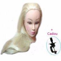 Cap manechin practica - Par blond 50 cm