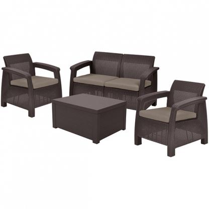 Set mobilier de gradina Corfu II BOX Maro/Gri-Taupe