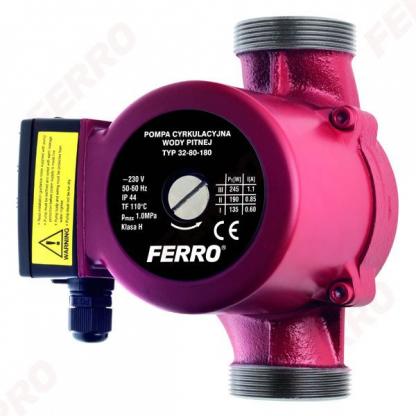 Pompa recirculare FERRO pentru apa potabila, clasa H 32-80, 180 mm