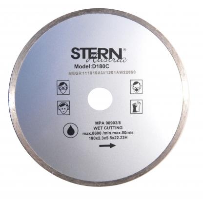Disc diamantat continuu taiere umeda Stern 180 mm