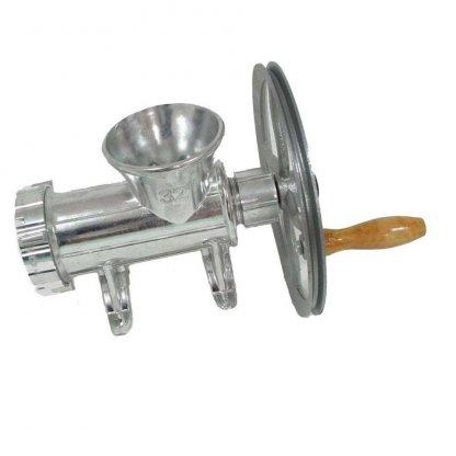 Masina de tocat carne din aluminiu cu coarba Nr. 32