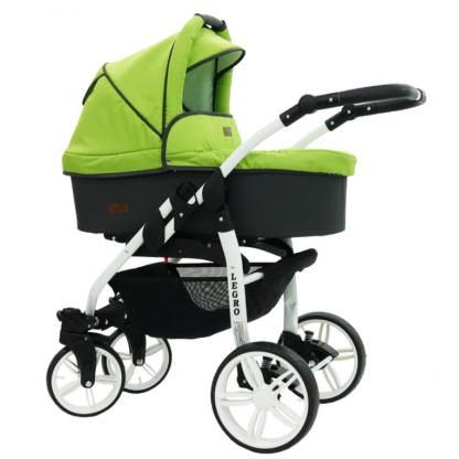 Carucior Legro babysportive 3 in 1, Verde si Negru
