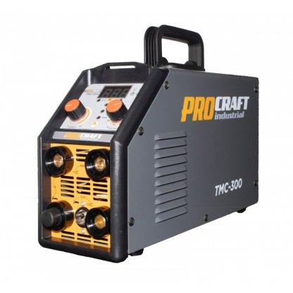 PRODUS RESIGILAT - Invertor Plasma Procraft TMC 300, 3 in 1, MMA, TIG + Accesorii
