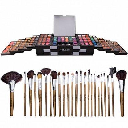 "Kit makeup ""I'm a Diva"" trusa cu 148 farduri si set 24 pensule"